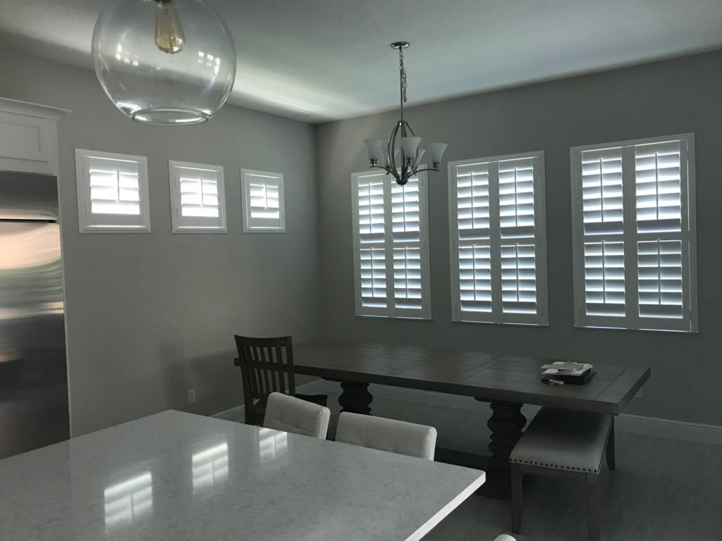 Modern and sleek Plantation Shutters installed by IWS Shutters and Blinds