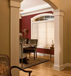 Wood Blinds installed in a study Clearwater florida